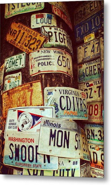 License Plate Metal Print by JAMART Photography