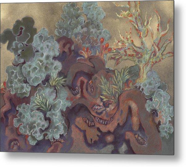 Lichen Landscape Metal Print