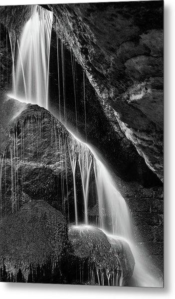 Lichtenhain Waterfall - Bw Version Metal Print