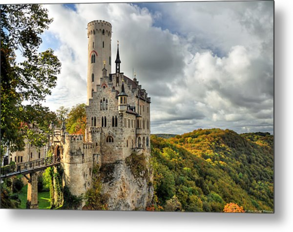 Lichtenstein Castle Metal Print by Ryan Wyckoff