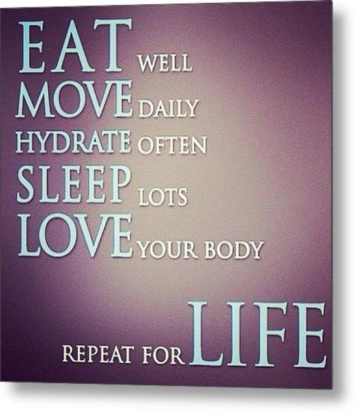 Life 💪❤👏 #exercise #workout Metal Print