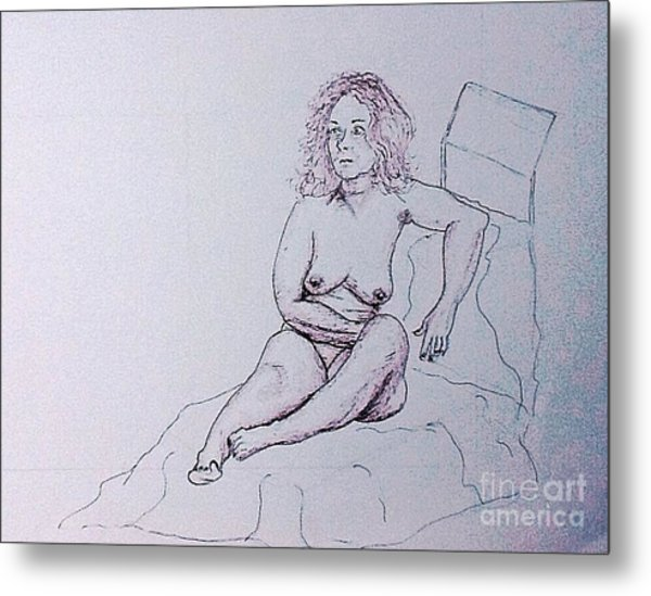 Life Drawing Nude Metal Print