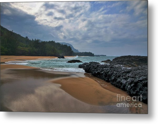 Metal Print featuring the photograph Life Is A Beach And Then You Die? Lumahai Beach, Kauai, Hawaii by Sam Antonio Photography