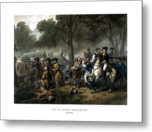 Life Of George Washington - The Soldier Metal Print