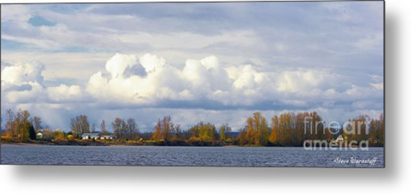 Life On The Columbia Metal Print