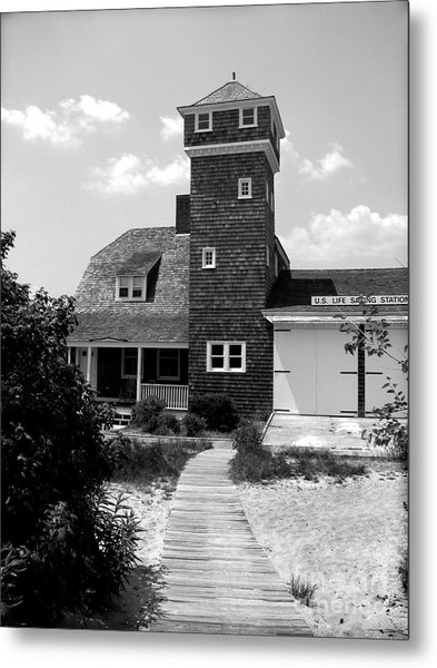 Life Saving Station Metal Print by Colleen Kammerer