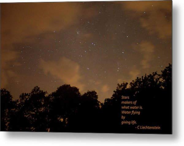 Life, Water And Stars Metal Print