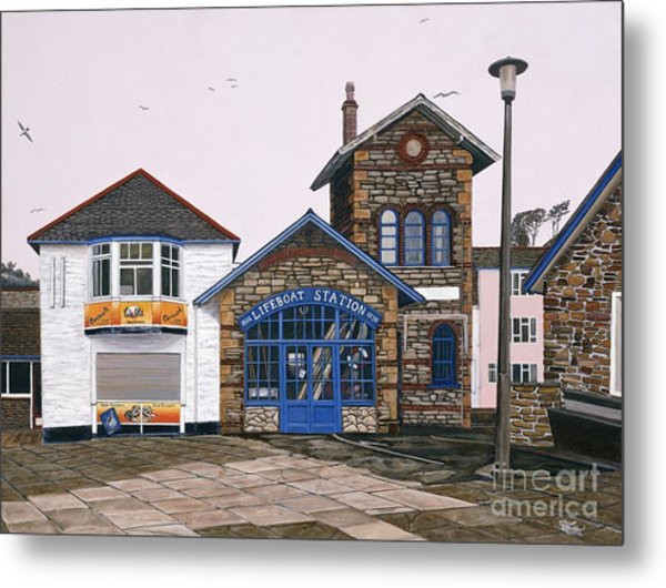 Lifeboat Station Metal Print