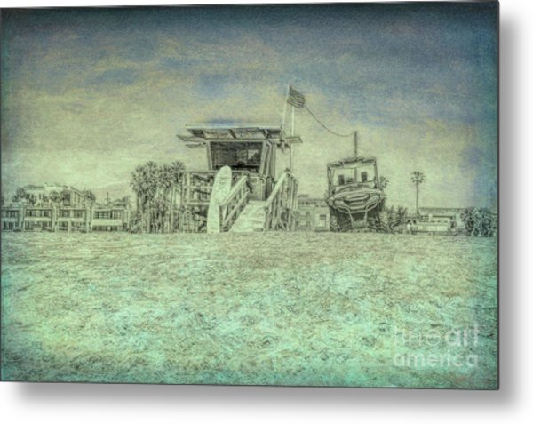 Lifeguard Tower 2 Metal Print