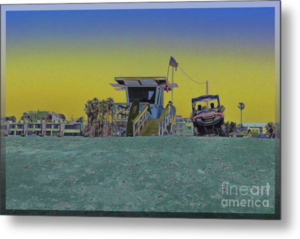 Lifeguard Tower 4 Metal Print