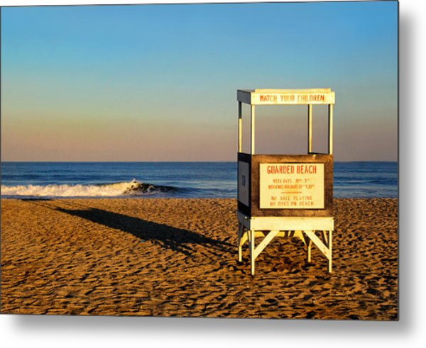 Lifeguard Stand At Ocean City Nj Metal Print