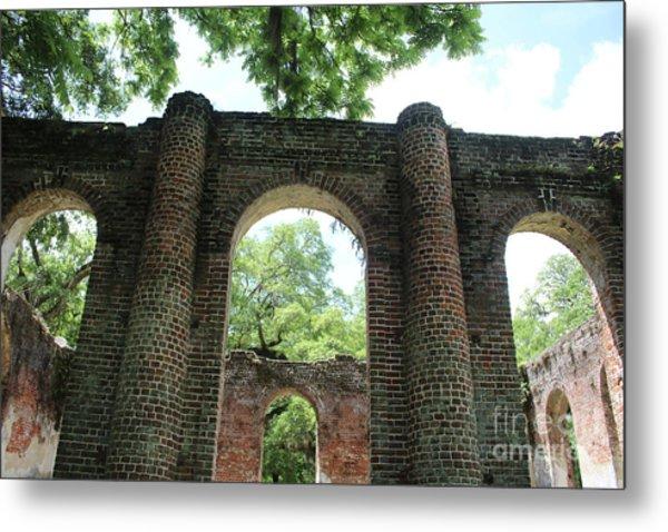 Light Above The Ruins Metal Print