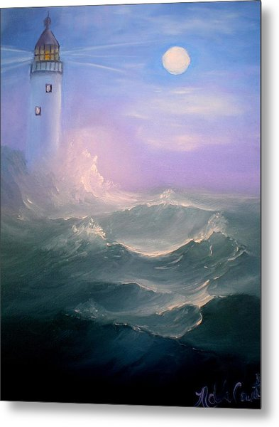 Light At Sea Metal Print
