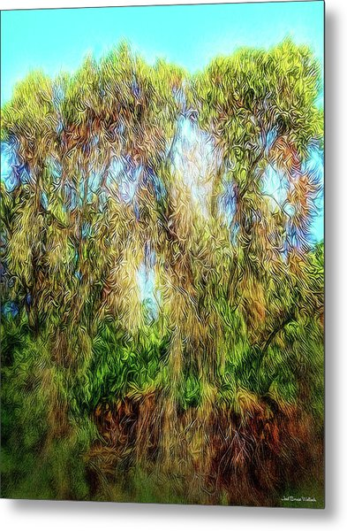 Light Beyond The Woods Metal Print