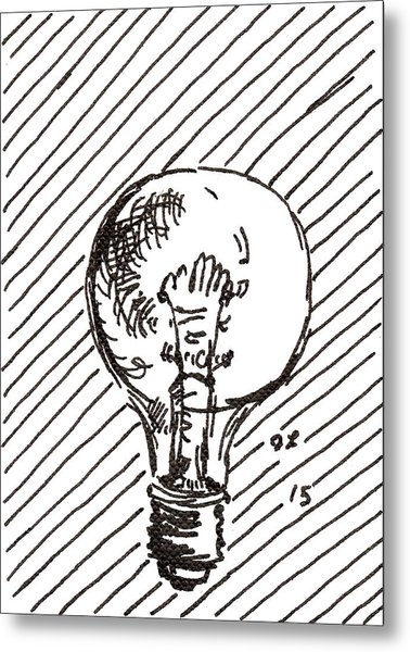 Light Bulb 1 2015 - Aceo Metal Print