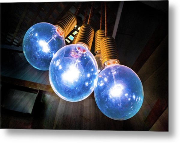 Light Bulbs Metal Print