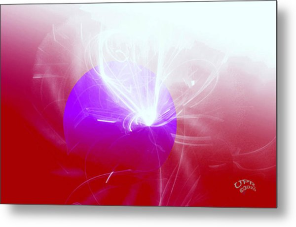 Light Emerging Metal Print