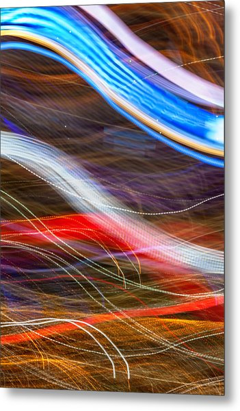 Light Flow Metal Print