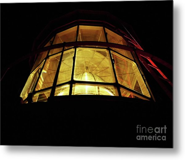 Light In The Dark Sky Metal Print