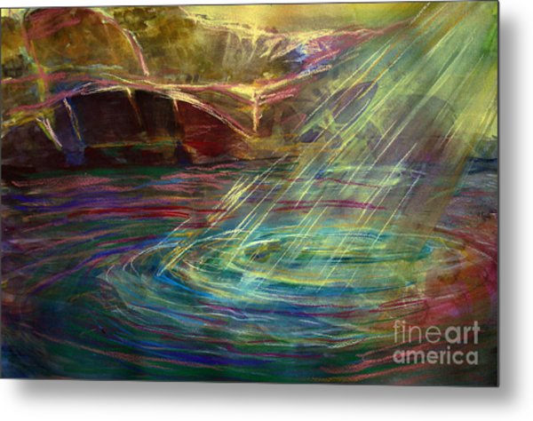 Light In Water Metal Print