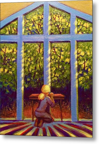 Metal Print featuring the painting Light Lit by Jeanette Jarmon