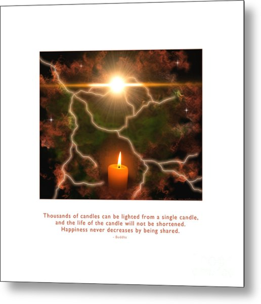 Metal Print featuring the photograph Light Of A Single Candle by Kristen Fox