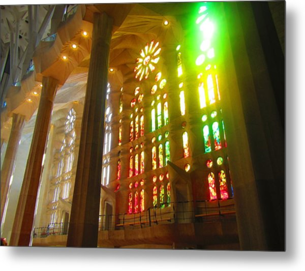 Light Of Gaudi Metal Print
