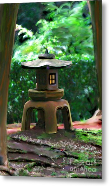 Light-on Pagoda Metal Print