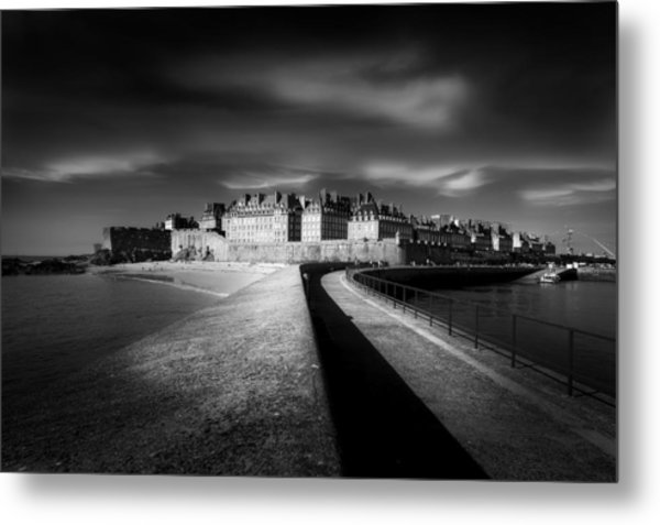 Light On Saint-malo Metal Print