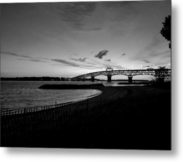 Light Over Bridge Metal Print