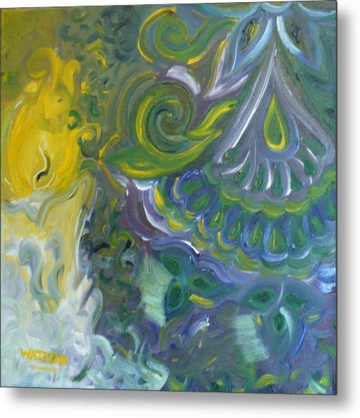 Light Patterns Metal Print by Wajeeha Zarrar