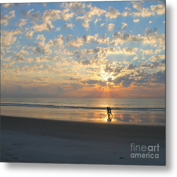 Light Run Metal Print