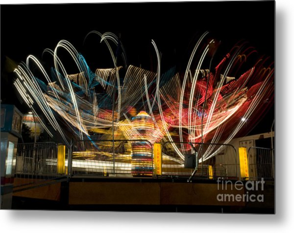 Light Spin Metal Print by Alicia White