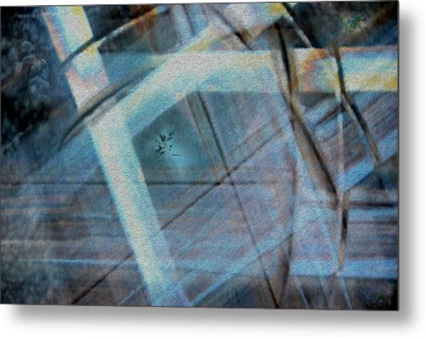 Light Wave Rust Metal Print