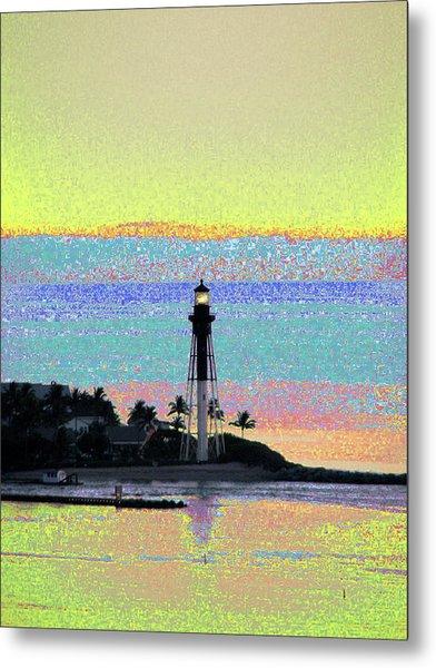 Luminous Florida Yellow At Hillsboro Lighthouse Metal Print
