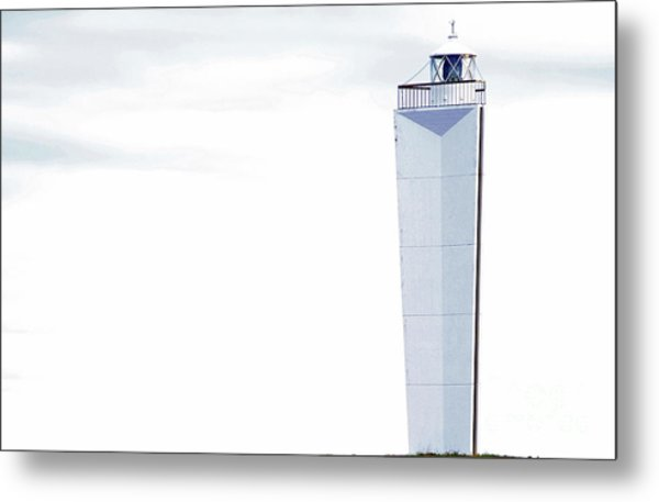 Metal Print featuring the photograph Lighthouse At Cape Jervis by Stephen Mitchell