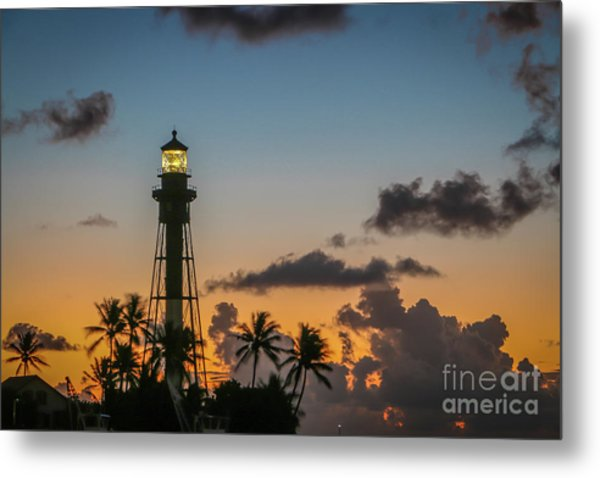 Metal Print featuring the photograph Lighthouse At Dawn #1 by Tom Claud