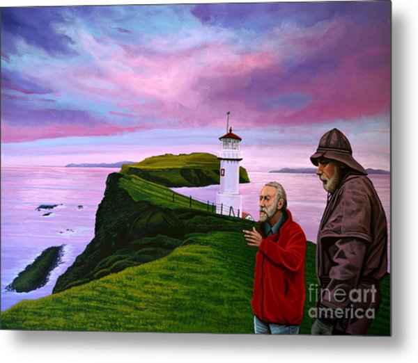 Lighthouse At Mykines Faroe Islands Metal Print