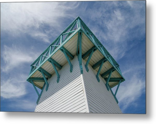 Metal Print featuring the photograph Lighthouse At Summerside Seaside Market. by Rob Huntley