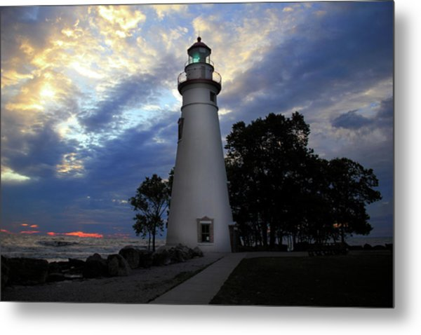 Lighthouse At Sunrise Metal Print