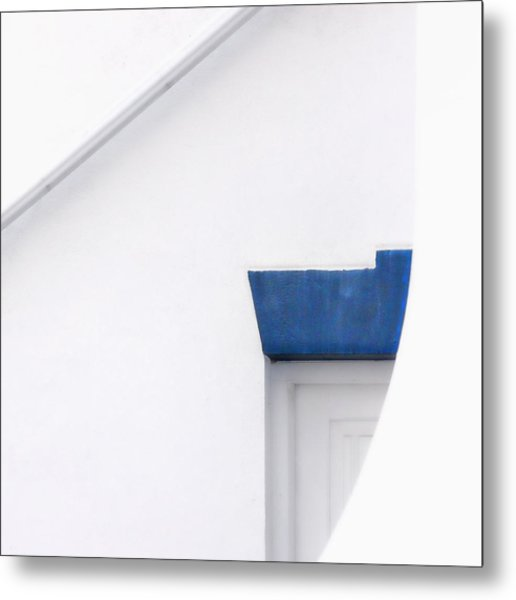 Lighthouse Door Detail Abstract Metal Print