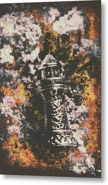 Lighthouse From Rust Harbour Metal Print