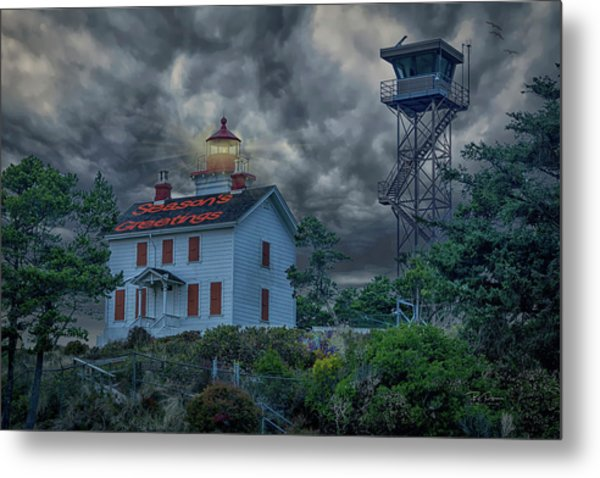 Lighthouse Greetings Metal Print