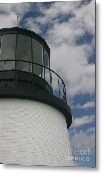 Lighthouse In The Sky Metal Print by Dennis Curry