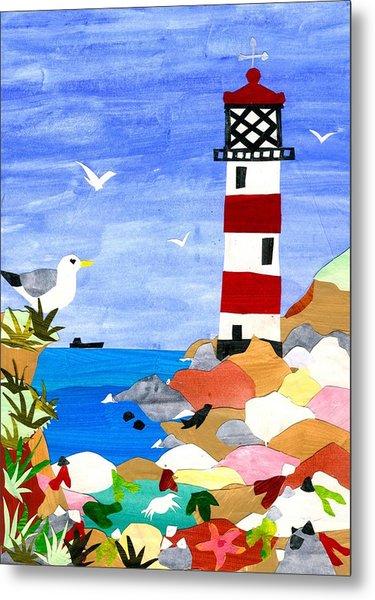 Lighthouse Metal Print by Judy Adamson