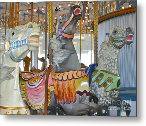 Lighthouse Park Carousel Metal Print