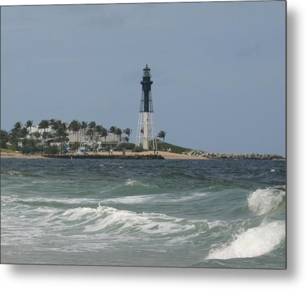 Lighthouse Point Fl. Metal Print by Dennis Curry