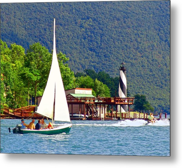Lighthouse Sailors Smith Mountain Lake Metal Print