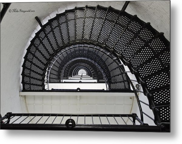 Lighthouse Spiral Metal Print