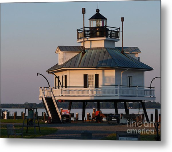 Lighthouse  St.michaels Md Metal Print